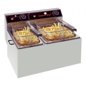 CaterChef elektrische friteuse 5 + 8L
