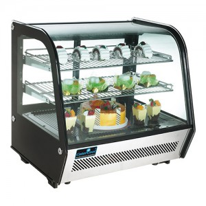 Display koeling 120 liter zwart Catercool
