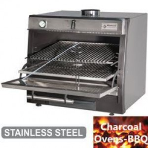 Diamond Houtskooloven-BBQ, GN 1/1 + GN2/4 (75 Kg/h)/Roestvrij staal