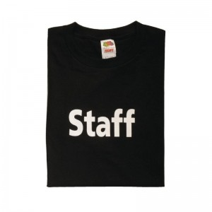 Staff' t-shirt zwart M