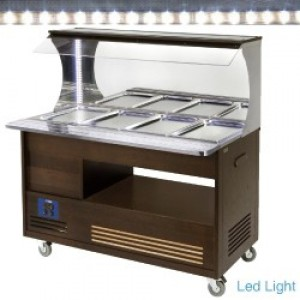 Diamond gourmet line buffet - Wandsalad bar, gekoeld, 4x GN 1/1-150