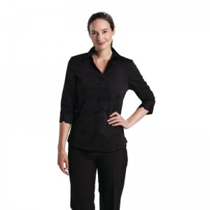 Uniform Works damesblouse zwart XL