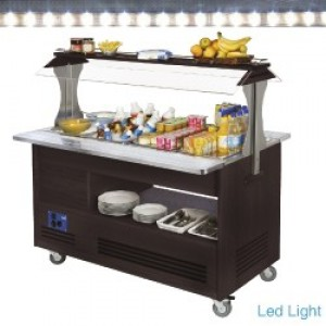 Diamond gourmet line buffet - Salad bar, gekoeld, 4x GN 1/1-150