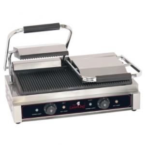 Caterchef dubbel contactgrill (gegroefd/gegroefd)