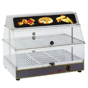 Rollergrill warmhoudvitrine - 600x400x480 mm (bxdxh)