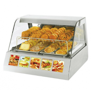 Rollergrill warmhoudvitrine - 730x600x800 mm (bxdxh)