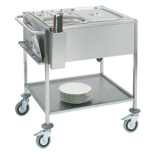 Caterchef bain marie wagen GN2/1x1-200mm