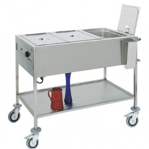 Caterchef bain marie wagen GN3/1x1-200mm