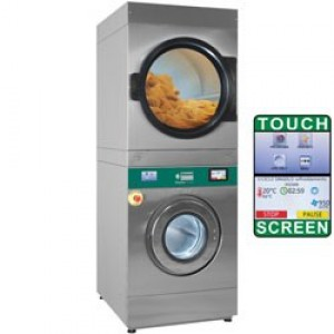 Diamond duplex plus wasmachine met super centrifugeren 14kg + droogmachine 14kg, touch screen