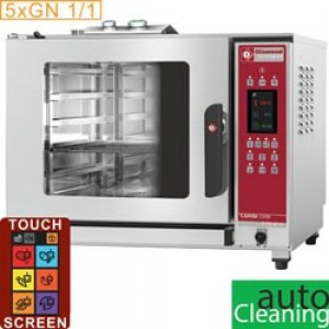 Diamond combi line plus touch screen oven elektrische stoom/convectieoven, 5x GN 1/1 - auto-cleaning