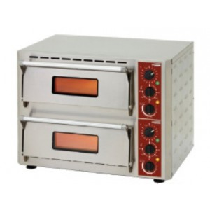 Diamond elektrische pizza oven, 1+1 Ø 430 mm pizza