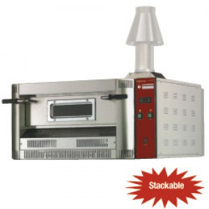 Diamond gas pizza oven, 6x Ø 330 mm pizza