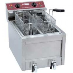Diamond speed fryers electrische friteuse 2 x 8 Lit