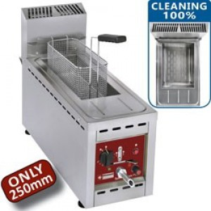 Diamond speed fryers gas friteuse 1 kuip 8 Lit. - op kast
