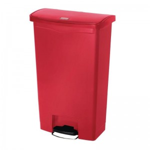 Rubbermaid pedaalemmer rood 68ltr