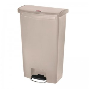 Rubbermaid pedaalemmer beige 68ltr