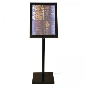 Securit LED info display zwart, 120cm(h)