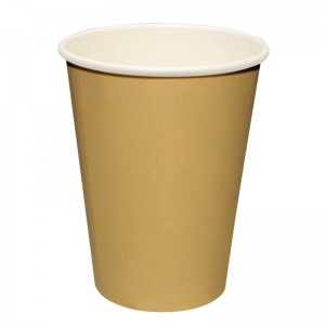 Hot cup enkelwandig Kraft lichtbruin 24cl (Box 50)