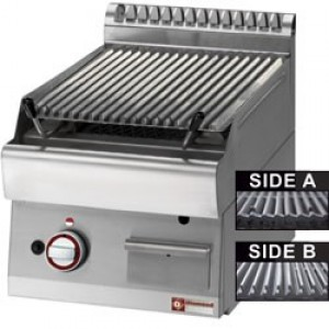 "Diamond grill stone plus lavasteengrill - bakrooster in gietijzer ""double face"", 40/80cm(L)"
