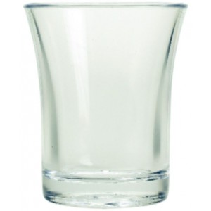 Polystyreen shotglas, 2,5cl (Box 100)