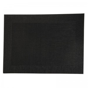 PVC geweven placemats zwart (Box 4)