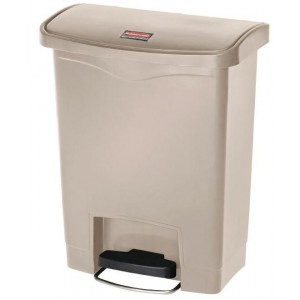 Rubbermaid pedaalemmer beige 30ltr