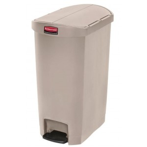 Rubbermaid pedaalemmer beige 50ltr
