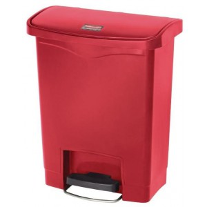Rubbermaid pedaalemmer rood 30ltr