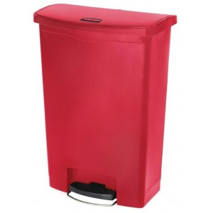 Rubbermaid pedaalemmer rood 90ltr