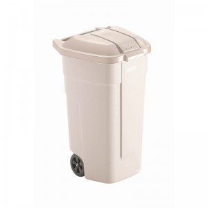 Rubbermaid rolcontainer met beige deksel
