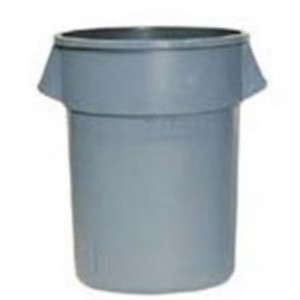 Rubbermaid ronde afvalcontainer 75,7 Ltr. grijs