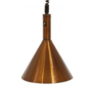 Warmhoudlamp Aluminium - Brons 280Ø mm